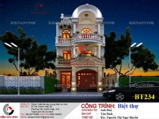 Biệt thự 3 tầng bán cổ điển Tân Bình