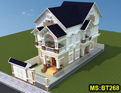 Biệt thự mái thái 2 tầng đẹp tại Vũng Tàu