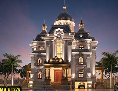 Biệt thự cổ điển 3 tầng đẹp phong cách châu âu