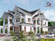 Thiết kế biệt thự 2 tầng mái thái tinh tế tại Long An