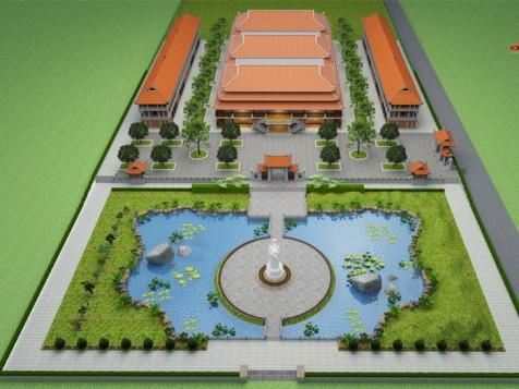 Thiết kế chùa tại Bình Phước
