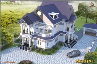 Biệt thự 2 tầng phong cách hiện đại Bình Phước