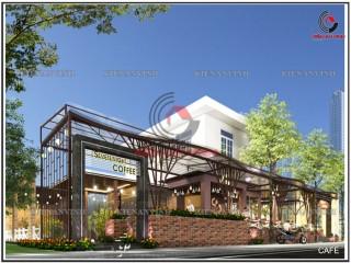 Mẫu quán coffee đẹp sang trọng tại Long Thành