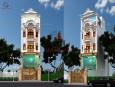 Mẫu thiết kế khách sạn 3 tầng bán cổ điển đẹp