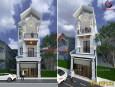 Kiến trúc mẫu nhà 3 tầng mái thái đẹp