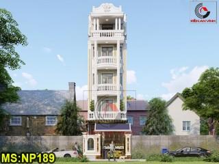 Thiết kế nhà ống đẹp 5 tầng tại Tân Bình