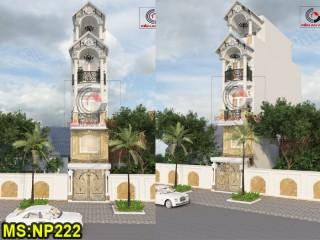 Thiết kế nhà phố 3 tầng đẹp tại Gò Vấp