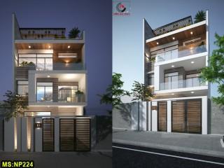 Mẫu thiết kế nhà phố 3 tầng hiện đại đẹp Tân Phú