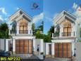 Thiết kế nhà phố 2 tầng đẹp mái thái