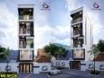 Nhà phố 5 tầng đẹp phong cách hiện đại tại Hóc Môn