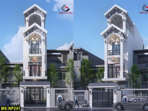 Nhà phố 3 tầng đẹp hệ mái thái chuẩn