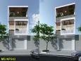 Thiết kế nhà phố 2 tầng đẹp hiện đại tinh tế