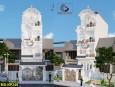 Thiết kế nhà phố tân cổ điển 4 tầng đẹp tại quận 12