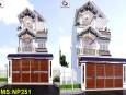 Kiến trúc nhà phố 3 tầng mái thái đẹp tại quận 2