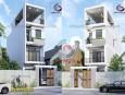Mẫu thiết kế nhà phố 3 tầng ở Hóc Môn