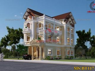 Thiết kế biệt thự 3 tầng 1 tum hoành tráng