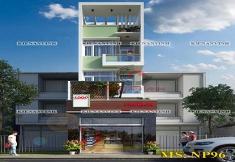 Mẫu thiết kế nhà phố 4 tầng đẹp phong cách hiện đại