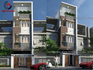 Mẫu thiết kế nhà phố 3,1x19m đẹp 3 tầng 1 tum