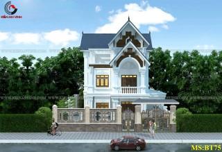 Thiết kế biệt thự tân cổ điển 2 tầng 10x20m tại Đồng Nai