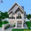 Thiết kế biệt thự 2 tầng mái Thái tại Cần Thơ