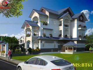 Thiết kế biệt thự bán cổ điển 3 tầng đẹp tại An Giang