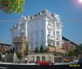 Thiết kế biệt thự 3 tầng 3 mặt tiền 12x20m bán cổ điển tại Bình Dương