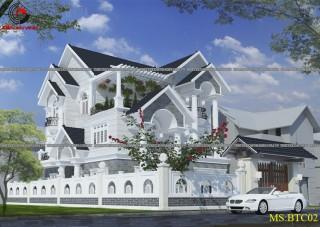 Mẫu thiết kế ngoại thất biệt thự đẹp - HCM