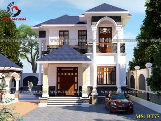 Mẫu biệt thự mini đẹp 2 tầng mái Thái