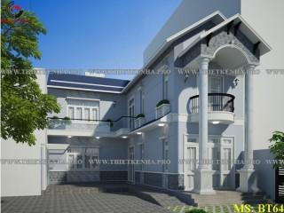 Biệt thự phố 1 tầng đẹp bán cổ điển tại Đồng Nai