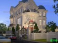 Mẫu biệt thự 2 tầng đẹp phong cách cổ điển