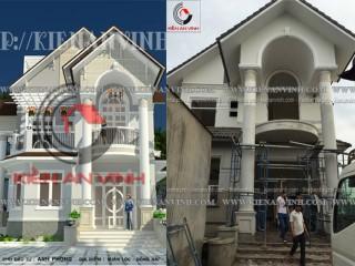 Thiết kế - thi công biệt thự tại Long Khánh DN