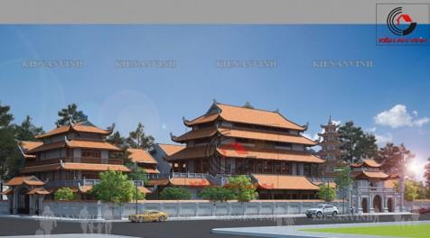Thiết kế chùa Quảng Minh đẹp sang
