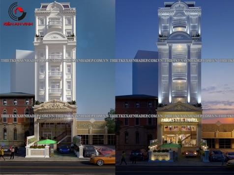 Mẫu thiết kế khách sạn đẹp 8 tầng hoành tráng