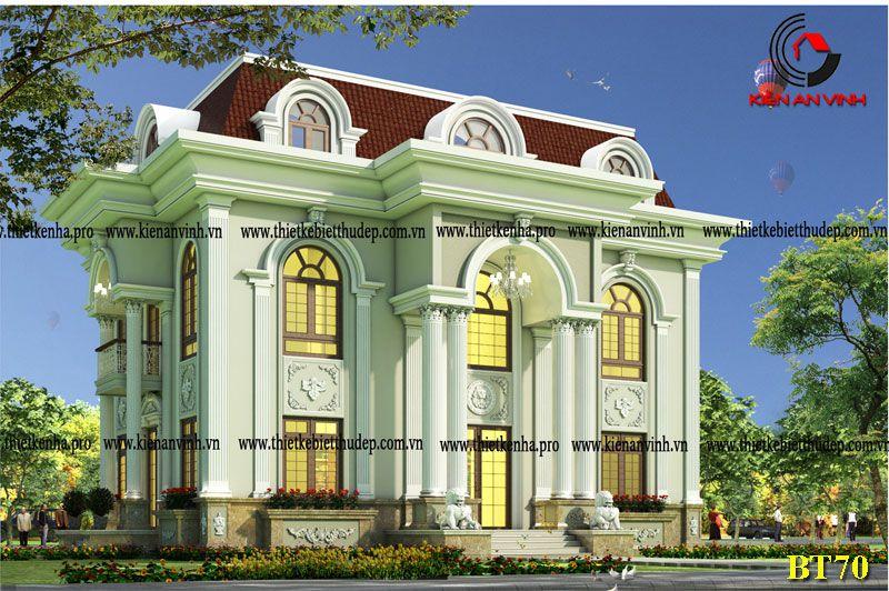 Mẫu biệt thự bán cổ điển 2 tầng kiểu pháp giữa lòng Hà Nội
