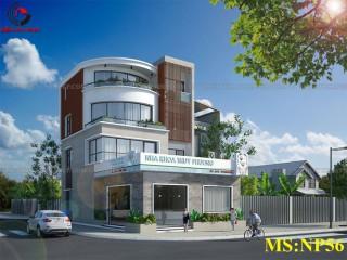 Mẫu thiết kế nhà phố đẹp 4 tầng kết hợp nha khoa