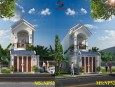 Mẫu thiết kế nhà phố đẹp 2 tầng bán cổ điển