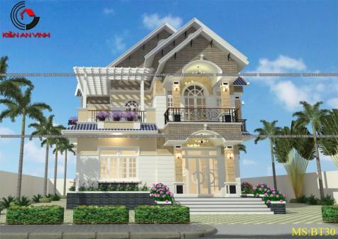 Mẫu thiết kế biệt thự nhà vườn 1 tầng tại Cần Thơ