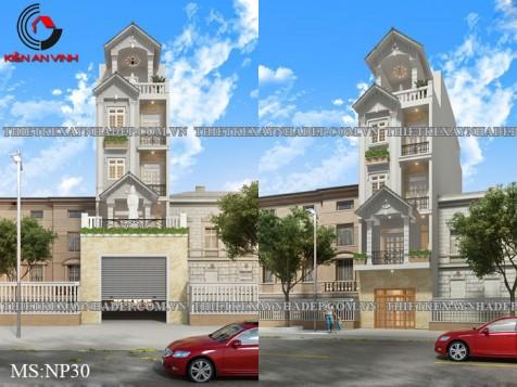 Mẩu thiết kế nhà phố 3 tầng 1 tum đẹp hiện đại