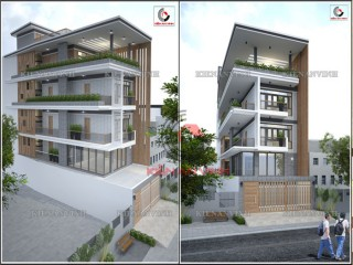 Nhà Phố 4 tầng phong cách hiện đại