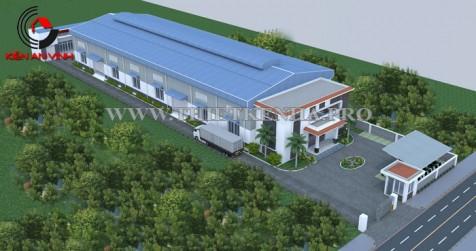 Mẫu thiết kế nhà xưởng may 1 tầng lầu đẹp tại Tân Bình