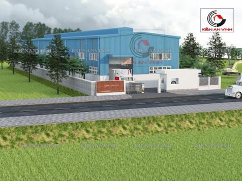 Mẫu thiết kế nhà xưởng sản xuất vinatech tại Hóc Môn