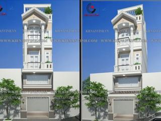 Thiết kế nhà 3 tầng mang phong cách bán cổ điển đẹp