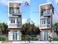 Thiết kế nhà phố 3 tầng hiện đại Tiền Giang