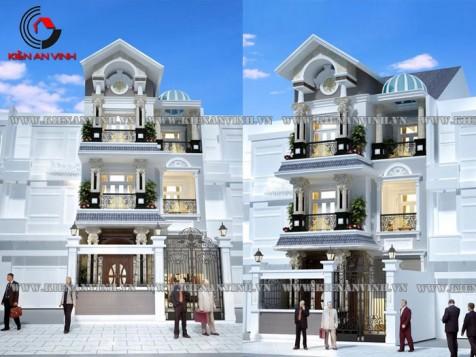 Mẫu dự án thiết kế nhà phố 2 tầng đẹp hiện đại