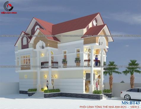 Mẫu thiết kế biệt thự 1 tầng 10x10m mái thái đẹp tại Cần Thơ