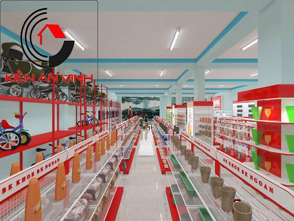 thiết kế siêu thị mini mẹ và bé
