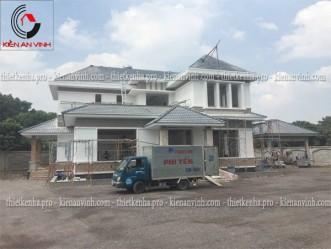Công trình thi công xây dựng biệt thự sân vườn tại Long Thành Đồng Nai