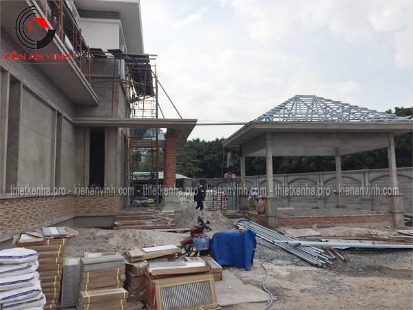 thi công xây dựng biệt thự sân vườn