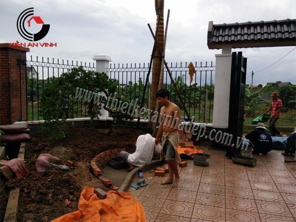 Công trình thi công xây dựng biệt thự sân vườn