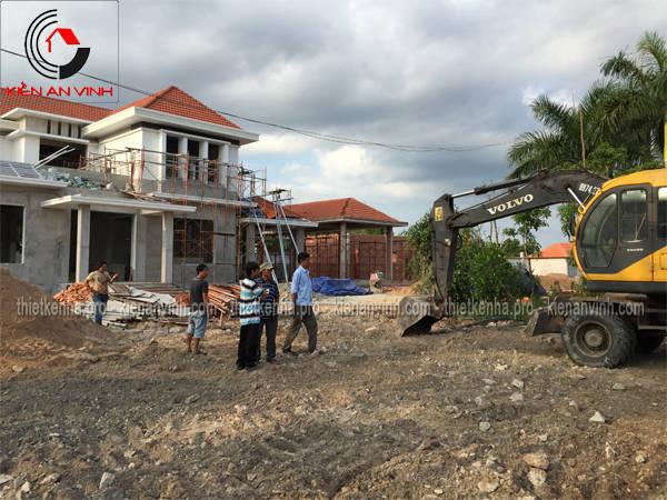 thi công xây biệt thự sân vườn 1 tầng